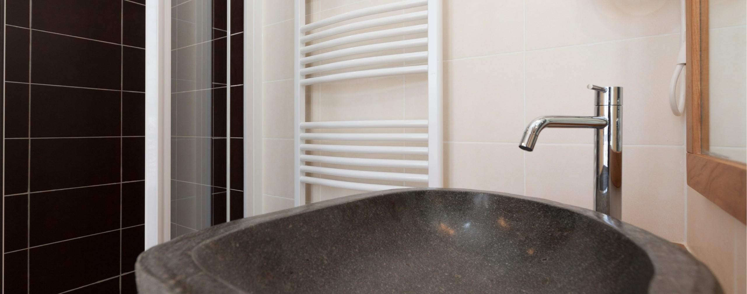 Chambre d'hôtel avec salle d'eau