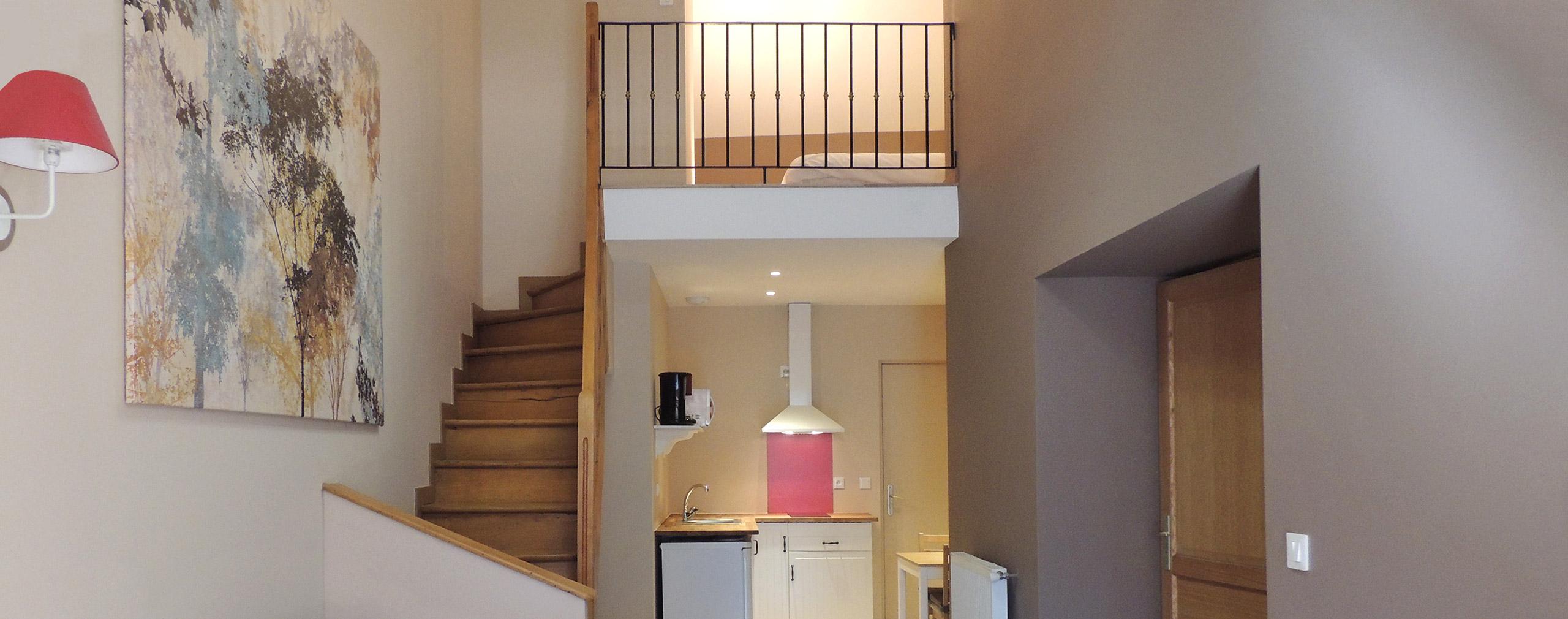 suite duplex avec coin cuisine dans notre h tel bourg d 39 oisans. Black Bedroom Furniture Sets. Home Design Ideas